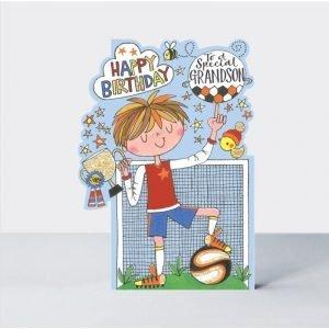 Rachel Ellen Happy Birthday To A Special Grandson Card