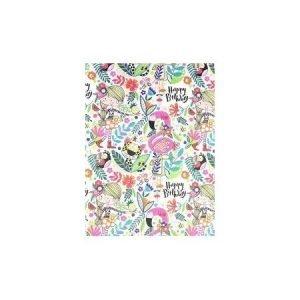 Rachel Ellen Single Sheet Wrapping Paper - Pink Tropical