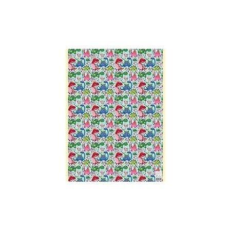 Rachel Ellen Single Sheet Wrapping Paper - Light Blue Dinosaur
