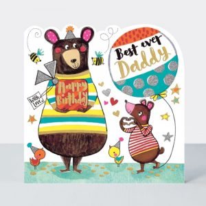 Rachel Ellen Best Ever Daddy Happy Birthday Card