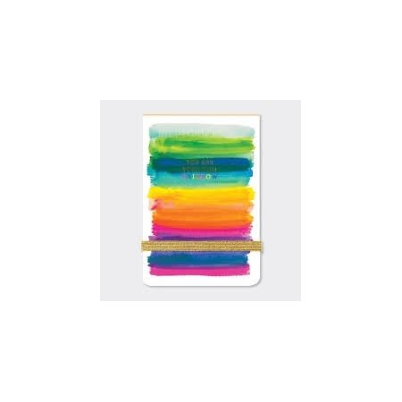 Rachel Ellen A7 Lined Mini Notepad - You Are Your Own Rainbow