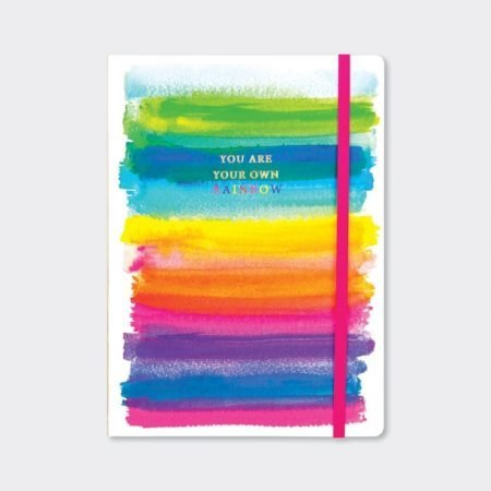 Rachel Ellen A5 Lined Notebook - You Are Your Own Rainbow