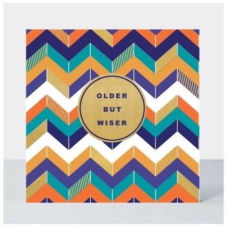 Rachel Ellen Older But Wiser Colourful Zig-Zag Card