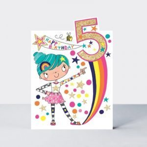 Rachel Ellen Happy Birthday 5 Girls Rule Card