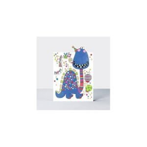 Rachel Ellen Happy Birthday Blue Dinosaur Card