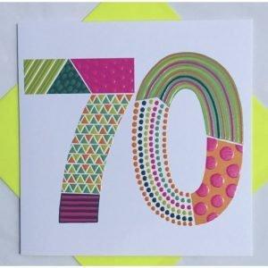Rachel Ellen 70 Neon Pop Card