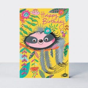 Rachel Ellen Happy Birthday Sloth Card