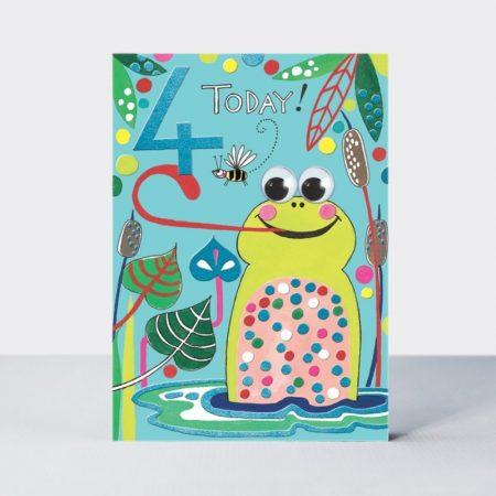 Rachel Ellen 4 Today Frog Card