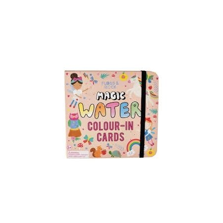 Floss & Rock Magic Water Colour-In Cards - Rainbow Fairy