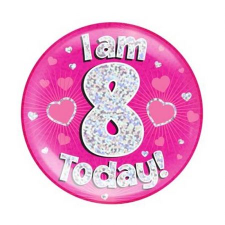 Giant Birthday Badge - Pink Ages 5-90
