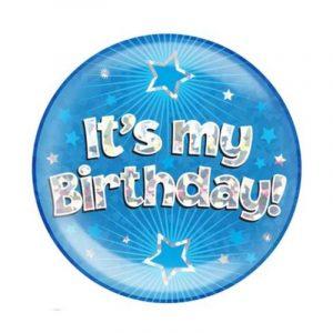 Giant Blue Birthday Badge - It's My Birthday