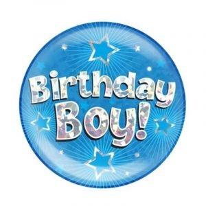 Giant Blue Birthday Badge - Birthday Boy