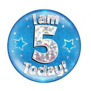 Age 5 giant birthday badge