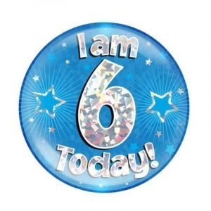 Age 6 giant birthday badge