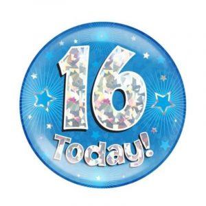Age 16 giant birthday badge