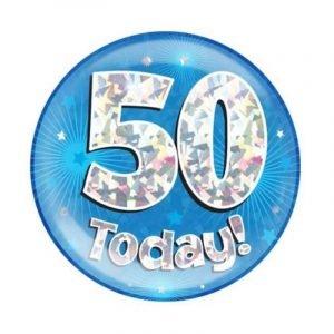 Age 50 giant birthday badge