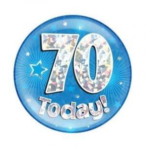 Age 70 giant birthday badge