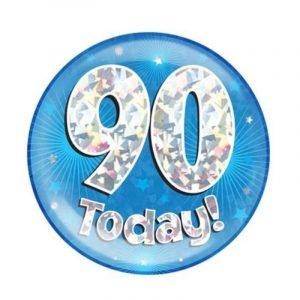 Age 90 giant birthday badge