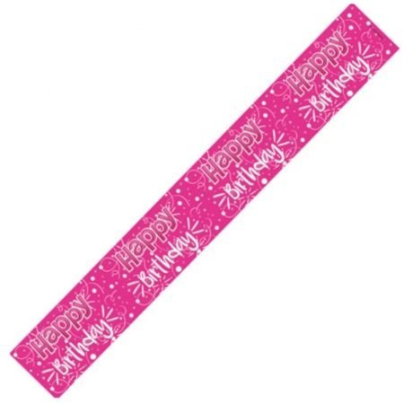 Happy Birthday Banner - Pink