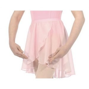 Pink Wrapover Voile Skirt