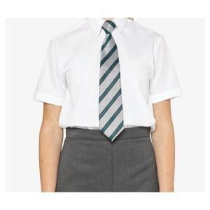 Winterbottoms Girls Twin Pack Short-Sleeved Slimfit Shirts - White 30-36 inch chest