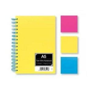 A4 Wirebound Bright Notebook