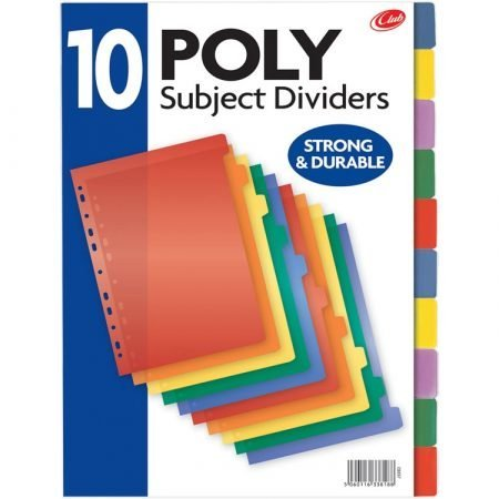 A4 Poly Dividers x 10