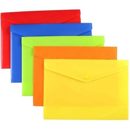 A4 Folder with Popper Fastening