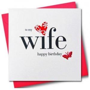 To My Wife Happy Birthday Card