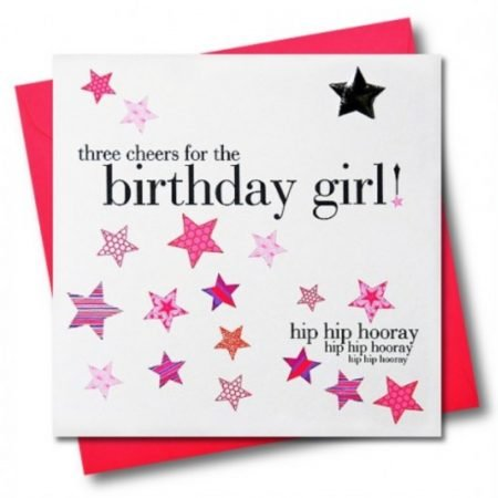 Three Cheers For The Birthday Girl! Card