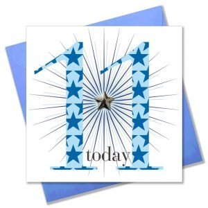 11 Today Blue Stars Card