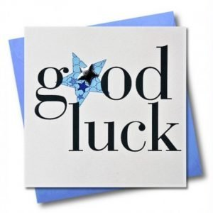 Good Luck Blue Stars Card