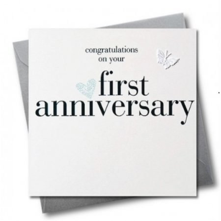 Congratulations On Your First Anniversary Card