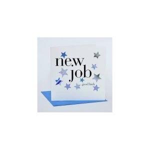 New Job Good Luck Blue Stars Card