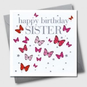 Happy Birthday Sister Butterflies Card