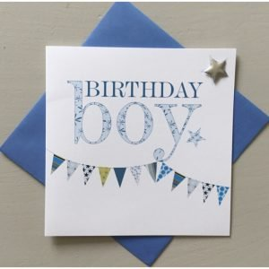 Birthday Boy Blue Bunting Card