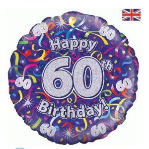 Age 60 helium balloon
