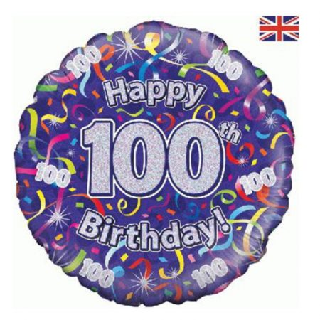 Age 100 helium balloon