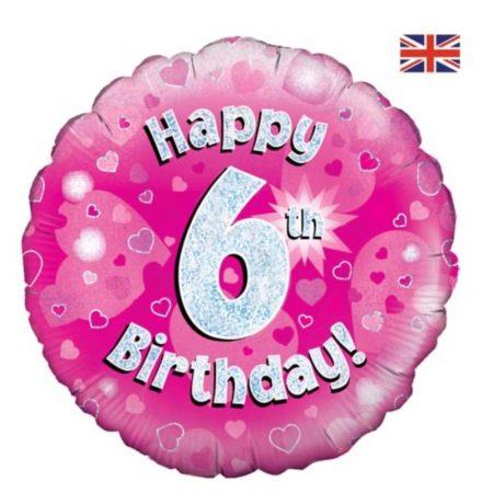 18 inch Happy Birthday Age 1-90 Balloon - Pink