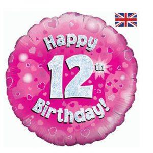 Age 12 helium balloon