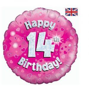 Age 14 helium balloon