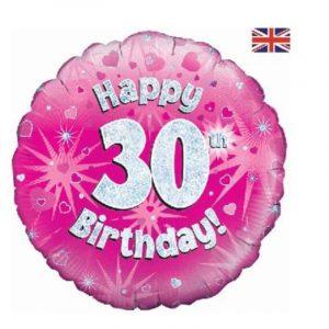 Age 1-90 helium balloon