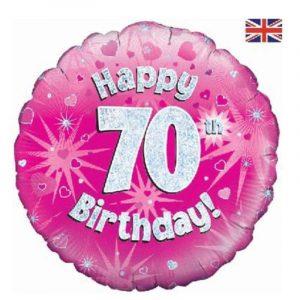 Age 70 helium balloon