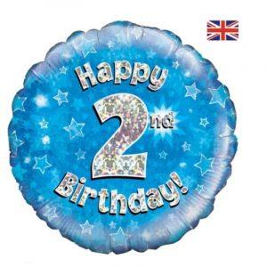 Age 2 helium balloon