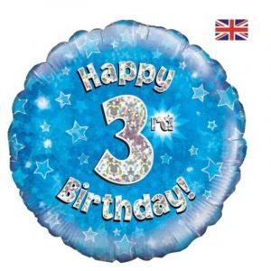 Age 3 helium balloon