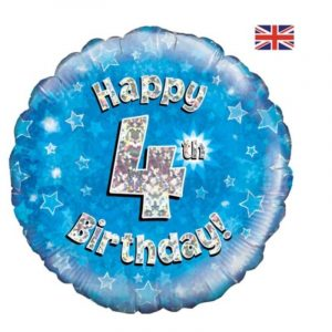 Age 4 helium balloon