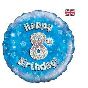 Age 8 helium balloon