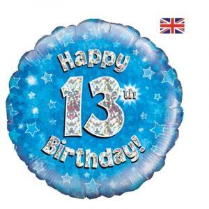 Age 13 helium balloon