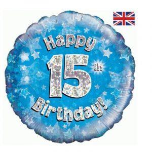 Age 15 helium balloon
