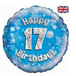 Age 17 helium balloon